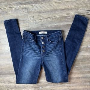 Hollister High Rise Distressed Skinny Jeans Sz 24